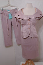 MARCIANO Guess Lilac 4Pc Skirt Crop Pant Top Jacket Outfit NWT 4 M