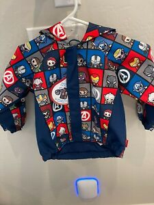 NWT Disney Store Avengers Raincoat Jacket SZ 4