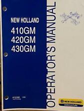 New Holland 410gm 420gm 430gm Flex Wing Finish Mower Operators Manual