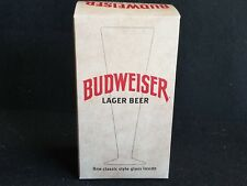 Budweiser Lager Beer Classic  Footed Style Glass Anheuser Busch Pilsner