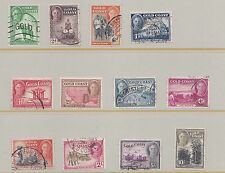 GOLD COAST  1948  S G 135 - 146  PART SET TO 10/-  MH & USED  NO 6D
