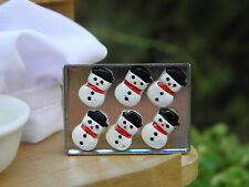 Miniature Dollhouse FAIRY GARDEN Accessories ~ Snowman CHRISTMAS Cookies Sheet
