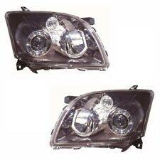 For Toyota Avensis Mk2 4/2006-2009 Headlights Headlamps Black 1 Pair O/S & N/S