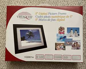 "Vistaquest 8"" Digital Picture Frame, NIB"