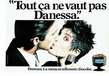 Publicité Advertising 057  1984  Danone ( 2 pages) la mousse dessert  Danessa