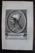 THOMASO ANELLO DIT MASANELLO . PORTRAIT, GRAVURE ORIGINALE , 1760