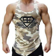 b7155252fdc1ac Men s Camouflage Sleeveless Tank Top Military Army Sport Fitness Gym Muscle  Vest