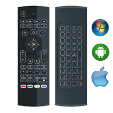 2.4G Slim Backlit Wireless Keyboard Air Mouse Remote Control PC Tablet TV Box