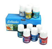 Pebeo Setacolor Paillettes Permanent Tissu Peinture Couleurs Assorties Set 10 X