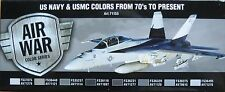 Vallejo Model Air Val71155 Modern Us Navy + Usmc aircraft 8 colour paint set
