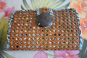 Vera Bradley Tiki Clutch Bali Blue Purse / Wallet, Tiki, Tiki Style Clutch Purse