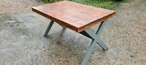 PINE FARMHOUSE KITCHEN DINING TABLE Rustic Shabby Chic Vintage Wood