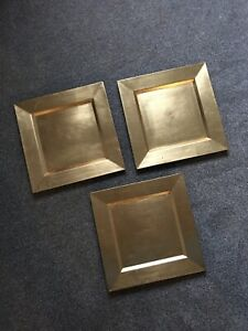 Gold Acrylic Charger Plates X 3
