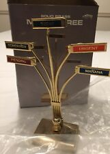 "Solid Brass Memo Tree In Box.  Used Good Condition.  8"" X 6"" Woolworth"