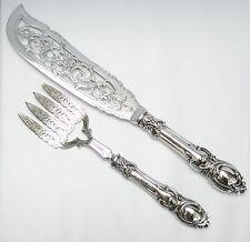 John Gilbert Sterling Silver Openwork Fish Fork and Knife Serving Set C.1852
