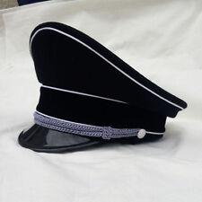 Military WWII WW2 German Elite Officer Hat Officer Cap Black Head Circle 60 cm