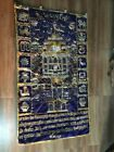 Antique Old Original Hand Embroidered Val vet Temple Rare Entrance Curtain