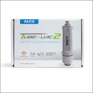 Alfa Tube-UAC2 802.11ac Dual Band 2.4 5GHz outdoor long range client USB adapter