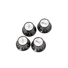 Guitar 2 Tone 2 VOLUME Control Knobs Silver Top Hat Bell For Gibson Les Paul SG