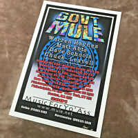 Gov't Mule - 2001 East Coast Tour Poster Art Print - signed (AP) B.Woodruff
