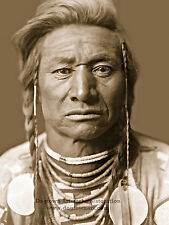 Restored Reprint Vintage Native American PHOTO CHIEF CHILD, CROW Indian, Curtis