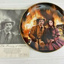 Gone With The Wind Golden Anniversary The Burning of Atlanta Collector Plate