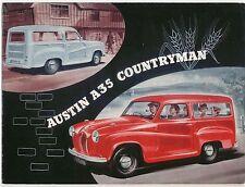 Austin A35 Countryman 1956-62 Original UK Sales Brochure Pub No 1137/D