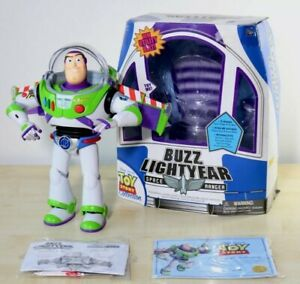RARE TOY STORY Buzz Lightyear Chrome Utility Belt  Thinkway Toys box & manuals