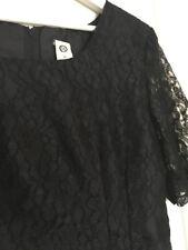 Ladies Vintage C&A Black Floral Lace Shift Dress Size 38 10 90s Party Event LBD