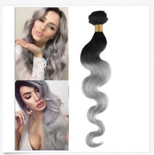 50G per 1B/GREY Ombre Brazilian Virgin Body Wavy Remy Human Hair Extensions