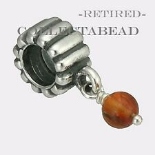 Authentic Pandora Silver Hanging Carnelian Bead *RETIRED*