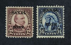 CKStamps: US Stamps Collection Canal Zone Scott#76 77 Mint H OG
