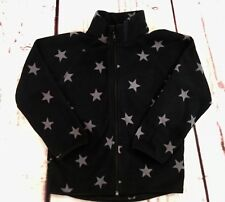 H&M Boys Fleece Jacket ~ 4-6 years ~ Black with Gray Stars ~ Excellent Condition