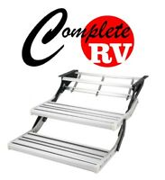 DOUBLE ALUMINIUM PULL OUT CARAVAN STEP FOR RV PARTS ACCESSORIES STEPS FAN MANUAL