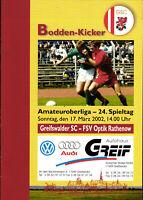 OL 2001/2002 Greifswalder SC - FSV Optik Rathenow, 17.03.2002, Guido Block