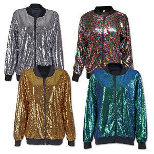 Sequin Festival Party Jacket: Bomber Coat Unisex Women Men Rave Fashion Costume
