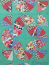 Vintage Rocky Road to Jericho Variation Fan Quilt Top