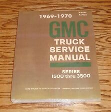 1969 1970 GMC Truck Service Shop Manual Series 1500-3500 69 70 Pickup