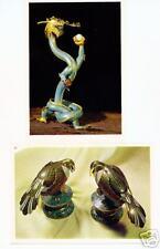 2 Ansichtskarten: China: Figuren, Cloisonné