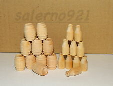 BARRELS  and MILK CANS made of SOLID Wood 1:43 (O) Scale Diorama New