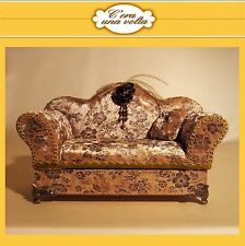 divano PORTAGIOIE velluto damascato c'era una volta cofanetto fatto a mano box