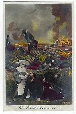 """infirmiére guerre croix rouge 14/18 """"le déjouement"""". fighting. the déjouement"""