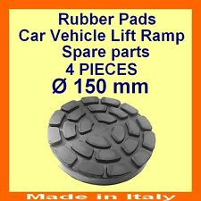 SET OF 4 PADS Ravaglioli 2 Post Car Lift Ramp Rubber Pads -150mm -Made in Italy-