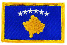 FLAG PATCH PATCHES KOSOVO IRON ON COUNTRY EMBROIDERED SMALL
