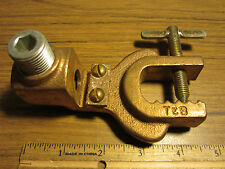 """1"""" Copper Disconnectable Static Grounding Clamp Lug 4/0 - 500 6 - 2 Ground Wire"""
