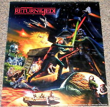 RETURN OF THE JEDI 1983 ORIG 2-sided 18x22 PROMO POSTER! STAR WARS & HI-C DRINKS