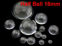 2pcs 13.5mm Crystal Paper Weight Clear Half Sphere Ball Magnifying Glass Lens