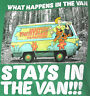 Scooby-Doo T-shirt Mystery Machine Graphic Tee Cotton Green NWT