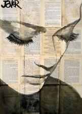 Loui Jover Birds Vintage Woman Girl Portrait Print Poster 14x11