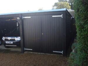 "Double Timber Wooden Garage Doors Gates - BARN - Car Port Doors ""MADE TO SIZE"""